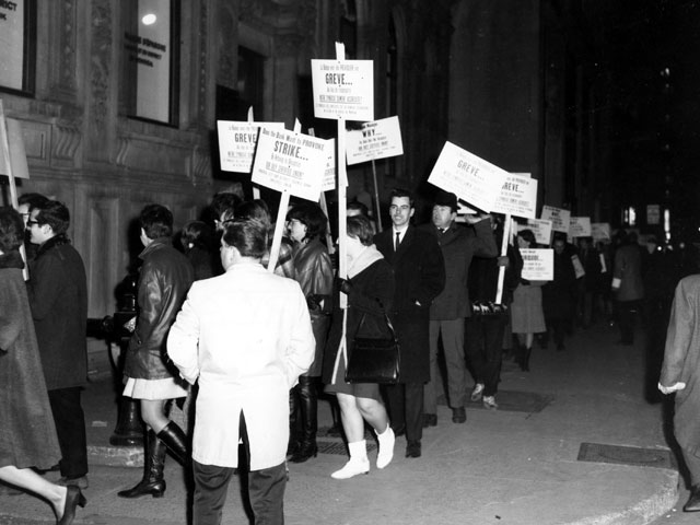 Strike by employees of the Banque d'épargne de Montréal in 1967