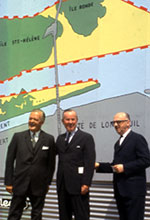 Image - Photo de l'inauguration des travaux pour la création des îles où sera présentée l'expo 67