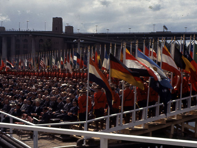 Opening ceremony of the Montréal World Fair in 1967