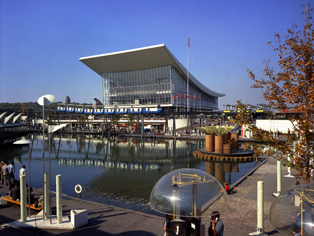 The pavilion of the U.S.S.R. at the Montréal World Fair in 1967