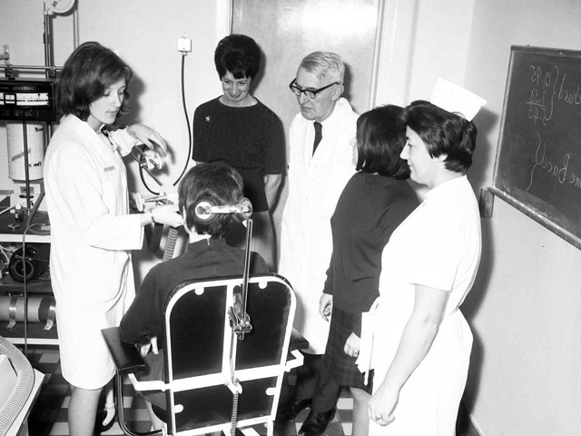 Nurses at the health unit at the Hôpital Cooke in Trois-Rivières in 1967