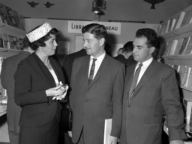 Paul Gérin-Lajoie during a literary event in 1960